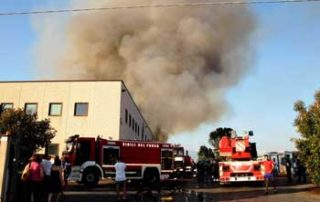 Frosinone incendio Mecoris